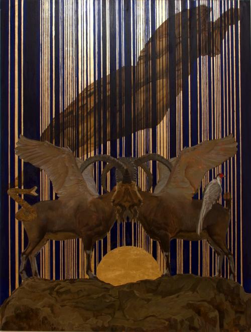 Capitel, técnica mixta sobre tela, 195 x 146 cm